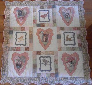 Love letters foto houten vloer